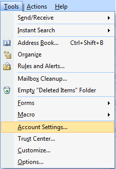 Instructions to setup your cPanel email in Outlook