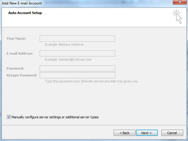 Microsoft Outlook 2007 for cPanel