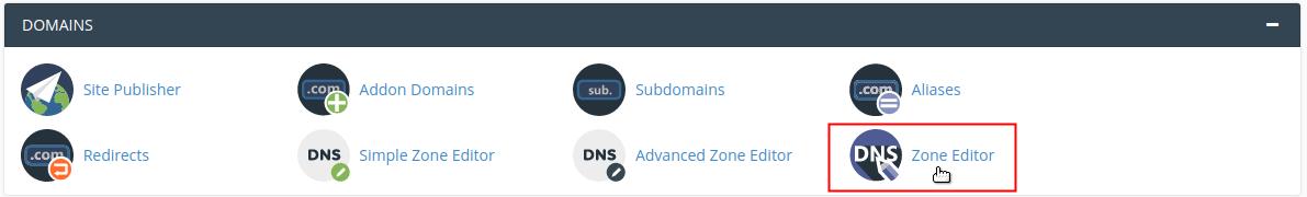 Click on Zone Editor icon