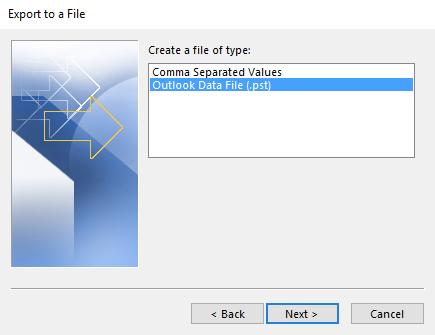 Choose file type