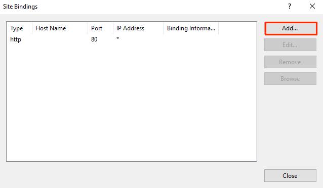 IIS 10 Assign SSL Certificate