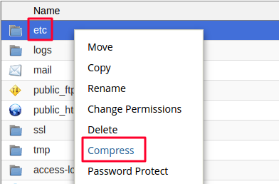 compressing etc directory